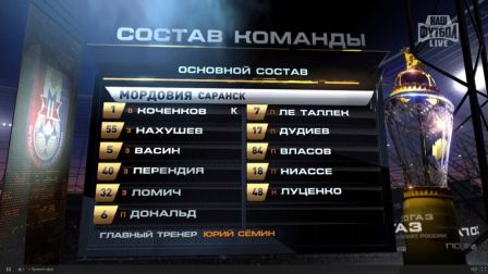 Состав команды ФК Мордовия в игре с Арсеналом